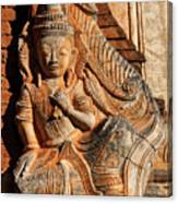 Burmese Pagoda Sculpture Canvas Print