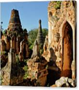 Burmese Pagodas In Ruins Canvas Print