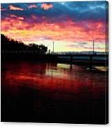 Burn Sunset Canvas Print