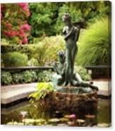 Burnett Fountain Garden Canvas Print