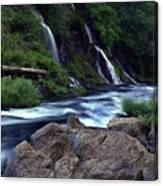 Burney Falls Creek Canvas Print