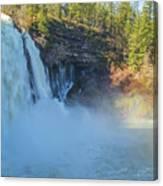 Burney Falls Wide View Canvas Print