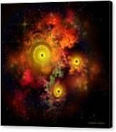 Burning Embers Nebula Canvas Print