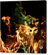 Burning Green Canvas Print