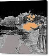 Burning House Destroyed By The Ss Soviet Union Number Two 1941 Color Added 2016 Canvas Print