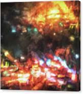 City Of Burning Lights Canvas Print