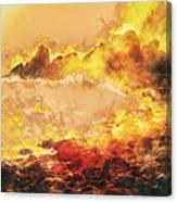 Burning Shore Canvas Print