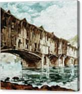 Burnt Covered Bridge Canvas Print