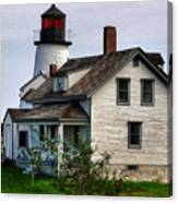 Burnt Island Lighthouse Side View Canvas Print