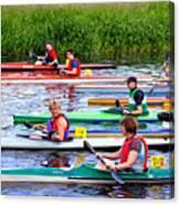 Burton Canoe Race At The Start Canvas Print
