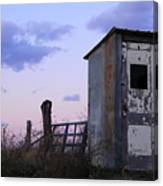 Bus Shelter At Dusk Canvas Print