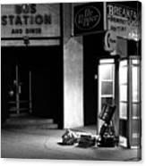 Bus Station Before Sunrise Canvas Print