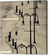 Bus Stop In Nashville Tn Canvas Print