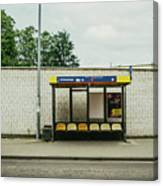 Bus Stop In Poland Canvas Print