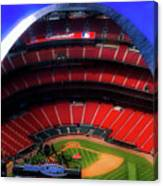 Busch Stadium A Zoomed View From The Arch Merged Image Canvas Print