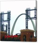 Busch Stadium With Arch Canvas Print