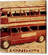 Buses Of Vintage England Canvas Print