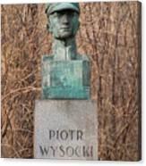 Bush Behind Piotr Wysocki Bust Canvas Print