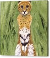 Bush Cat Canvas Print
