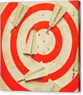Business Target Practice Canvas Print