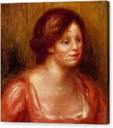 Bust Of A Woman In A Red Blouse Canvas Print