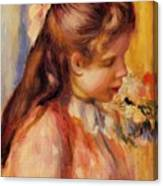 Bust Of A Young Girl Canvas Print