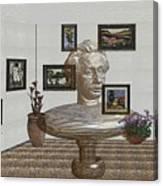 Bust Of The Spirit Of Einstein 1 Canvas Print