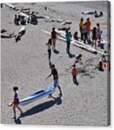 Busy Beach Canvas Print