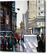 Busy City - Chicago Canvas Print