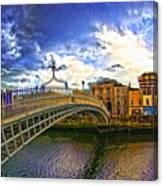 Busy Ha'penny Bridge 4 V2 Canvas Print