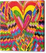 Busy Heart Canvas Print