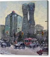 Busy Morning In Downtown Mississauga Canvas Print
