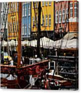 Busy Nyhavn Canvas Print