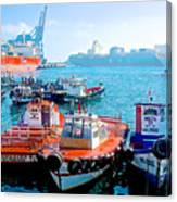 Busy Port Of Valparaiso-chile Canvas Print