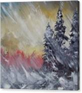 But The Weather Man Said.... Canvas Print