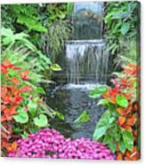 Butchart Gardens Waterfall Canvas Print