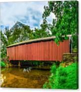 Butchers Mill Covered Bridge Canvas Print