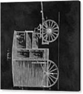 Butcher's Wagon Patent Canvas Print
