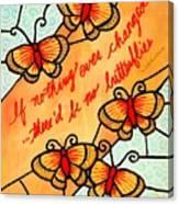 Buterflywhispers2 Canvas Print