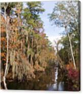 Butler Creek In Autumn Colors Canvas Print