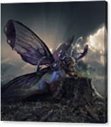 Butterfly And Caterpillar Canvas Print