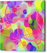 Butterfly Bubbles Canvas Print
