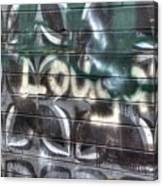 Butterfly Graffiti Canvas Print