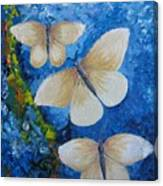 Butterfly In Blue 4 Canvas Print