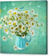 Butterfly Kisses And Flower Petal Wishes  Canvas Print