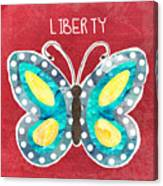 Butterfly Liberty Canvas Print