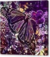 Butterfly Monarch Flower  Canvas Print