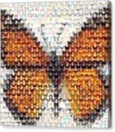 Butterfly Mosaic Canvas Print