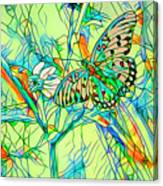 Butterfly Mosiac Canvas Print