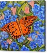 Butterfly Orange Canvas Print